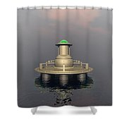 Mysterious Structure Shower Curtain