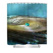 Mysterious Turquoise Shower Curtain