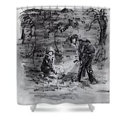 Mystery At Memorial Gardens Shower Curtain