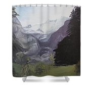Mystery Mountains Shower Curtain