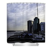 Mystery Of The Missing P Aka Pier 17 Shower Curtain