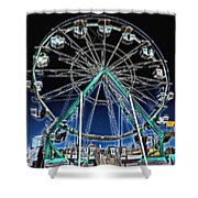 Mystery Wheel - 2 Shower Curtain