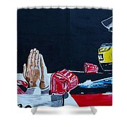 Mystic Ayrton Senna Shower Curtain