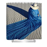 Mystic Blue 1 Shower Curtain