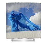 Mystic Blue 9 Shower Curtain