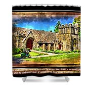 Mystic Church - Featured In Comfortable Art Group Shower Curtain