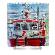 Mystic Fireboat Shower Curtain