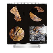 Mystic Fractures II Shower Curtain
