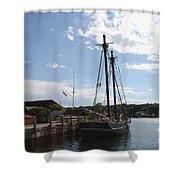 Mystic Harbor - Ct Shower Curtain