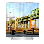 Mystic River Bridge  Shower Curtain