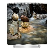 Mystic River S2 Vii Shower Curtain