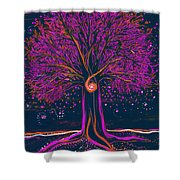 Mystic Spiral Tree 1 Pink By Jrr Shower Curtain