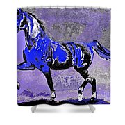 Mysterious Stallion Abstract Shower Curtain