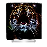 Mystic Tiger Shower Curtain