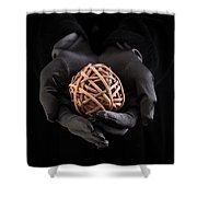 Mystical Hands Holding A Woven Ball Shower Curtain
