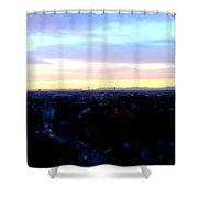 Mystical Munich Skyline With Alps During Sunset II Shower Curtain