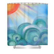 Mystical Sea Squared Shower Curtain