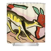 Mythical Animal  Shower Curtain by Franz Marc