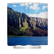 Na Pali Coast On Kauai Shower Curtain