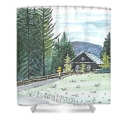 Naggl Alm Shower Curtain