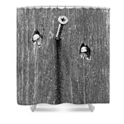 Nailed It - Bw Shower Curtain
