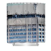 Naked Hsbc Tower V2 Shower Curtain