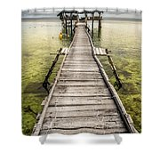 Nalusuan Island Pier Shower Curtain