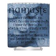 Namaste Blue Shower Curtain