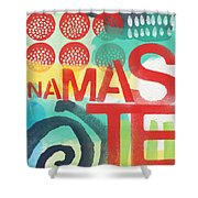 Namaste- Contemporary Abstract Art Shower Curtain