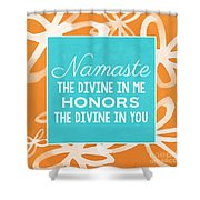 Namaste Watercolor Flowers Shower Curtain
