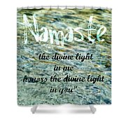 Namaste With Crystal Waters Shower Curtain