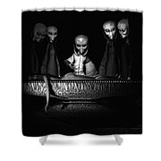 Nameless Faces Shower Curtain