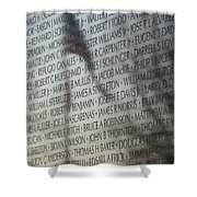 Names On A Wall Shower Curtain