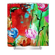 Nancy's Flowers Shower Curtain