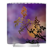 Nandina The Beautiful Shower Curtain by Bedros Awak