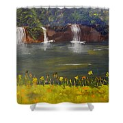 Nandroy Falls In Queensland Shower Curtain