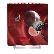 Nanotechnology, Illustration Shower Curtain