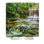 Nant Mill Waterfall Shower Curtain