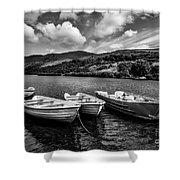 Nantlle Uchaf Boats Shower Curtain