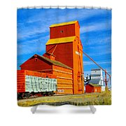 Nanton Grain Elevators  Shower Curtain