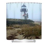 Nantucket Brant Point Light Shower Curtain