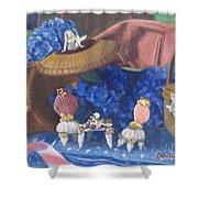 Nantucket Mermaid Tea Shower Curtain