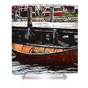 Nantucket Sleigh Ride Whaleboat Shower Curtain