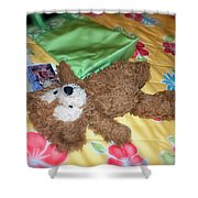 Nap Time Bear Shower Curtain