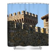 Napa Valley Castle Winery Shower Curtain