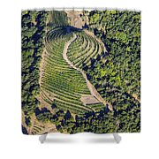 Napa Valley From Above Shower Curtain