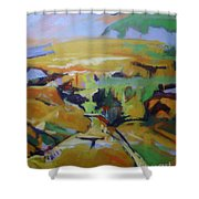 Napa Valley Perriwinkle Sky Shower Curtain