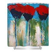 Napa Valley Red Poppys Shower Curtain