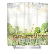 Napanee River West Shower Curtain