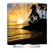 Napili Sunset Evening  Shower Curtain